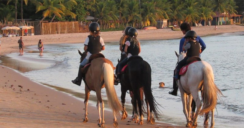 Horseriding in the sand