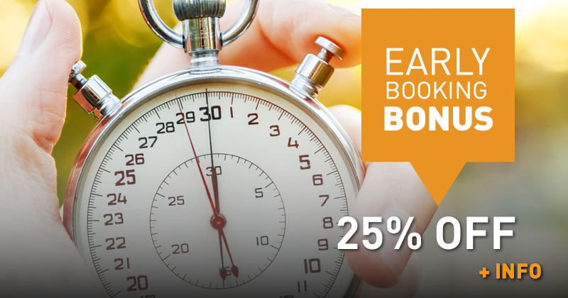 Early Booking Bonus (25% off)